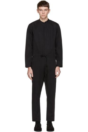 Isabel Benenato - Black Cotton Jumpsuit