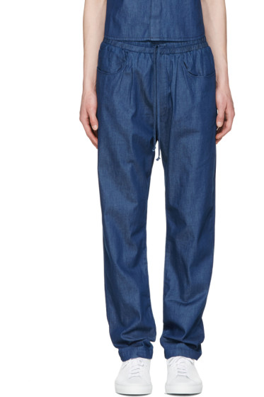 Sunnei - Indigo Chambray Trousers