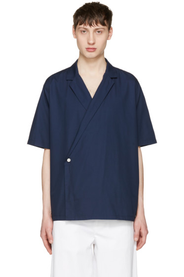 Sunnei - Navy Open Collar Shirt