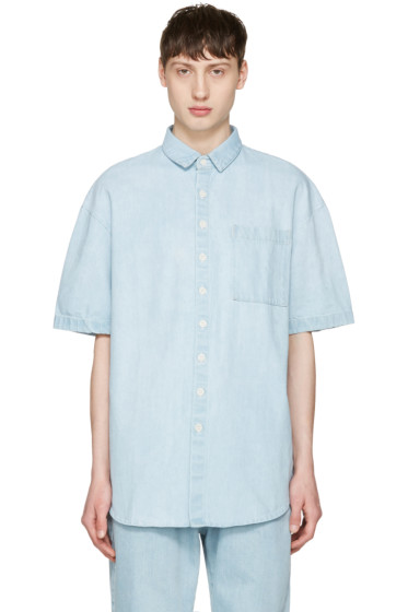 Sunnei - Blue Denim Pocket Shirt