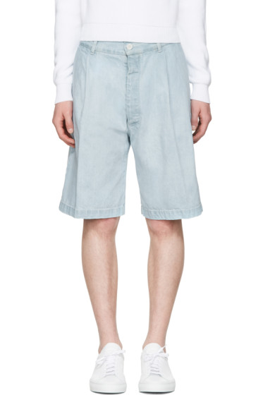 Sunnei - Blue Denim Bermuda Shorts