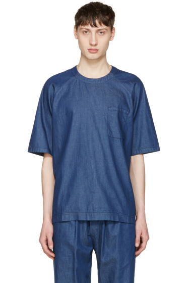 Sunnei - Blue Chambray Oversized T-Shirt