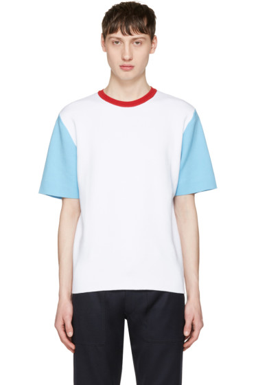 Sunnei - White Colorblock T-Shirt