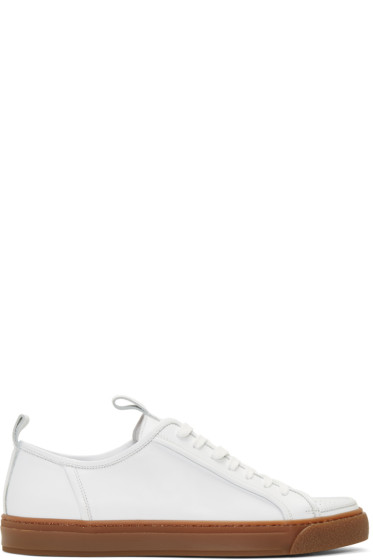 Sunnei - White Perforated Cap Sneakers