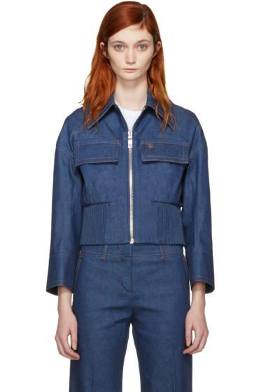 Emilio Pucci - Blue Front Zip Denim Jacket