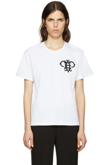 Emilio Pucci - White Embroidered Logo T-Shirt
