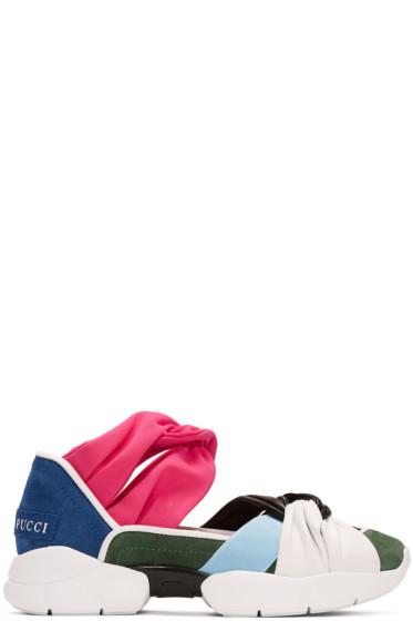 Emilio Pucci - Multicolor Colorblock Sneakers