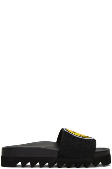 Joshua Sanders - Black Smile Slide Sandals