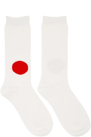 Blue Blue Japan - Ecru Japan Flag Socks