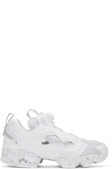 Reebok Classics - White Low-Instapump Fury Sneakers