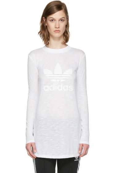 adidas Originals - White Logo Long Sleeve T-Shirt