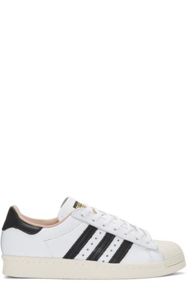 adidas Originals - White Superstar 80s Sneakers