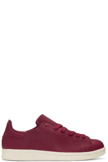 adidas Originals - Burgundy Stan Smith Nuude Sneakers