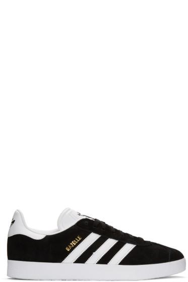 adidas Originals - Black Suede Gazelle Sneakers