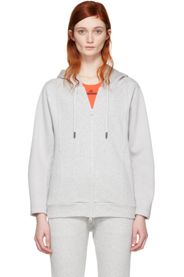 adidas by Stella McCartney - Grey ESS Zip-Up Hoodie