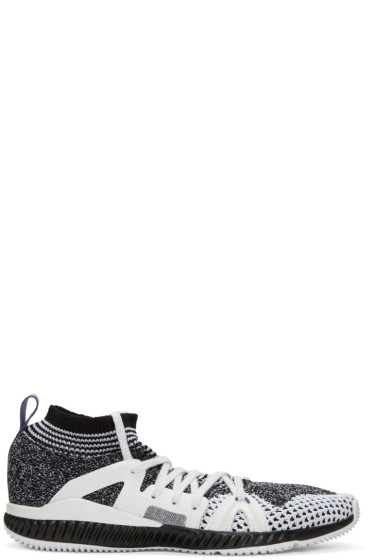 adidas by Stella McCartney - Black & White CrazyTrain Bounce Sneakers