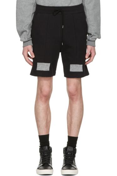 John Elliott - Black Panelled Shorts