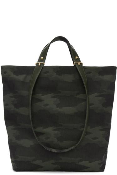 Haerfest - Green Jacquard Camouflage H6 Tote Bag