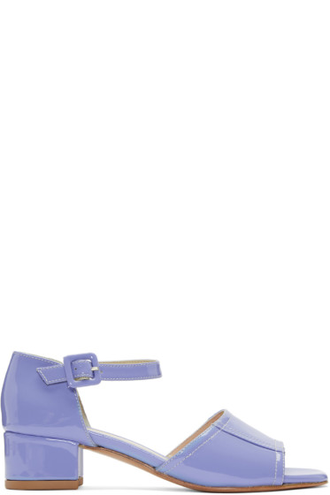 Maryam Nassir Zadeh - Purple Patent Leather Alexandra Sandals