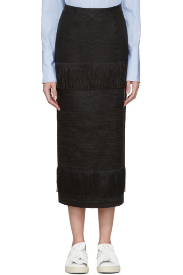 Ports 1961 - Black Fringed Skirt