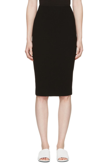 Victoria Beckham - Black Zip Pencil Skirt