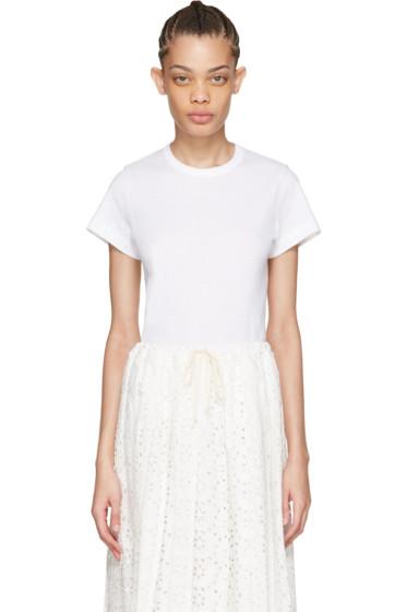 Tricot Comme des Garçons - White Cotton T-Shirt