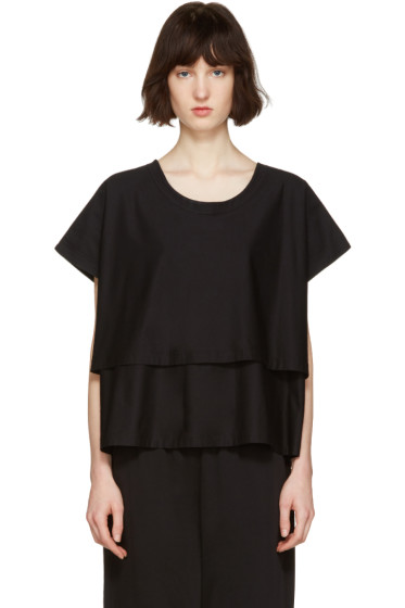 Nehera - Black Two-Layer T-Shirt