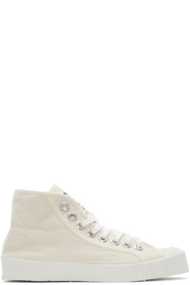 Spalwart - Ecru Special High-Top Sneakers