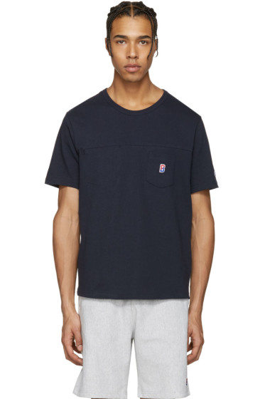 Champion x Beams - Navy Two Pocket Logo T-Shirt