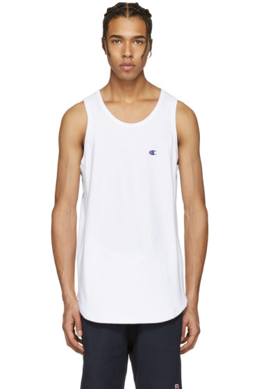 Champion x Beams - White Logo Tank Top