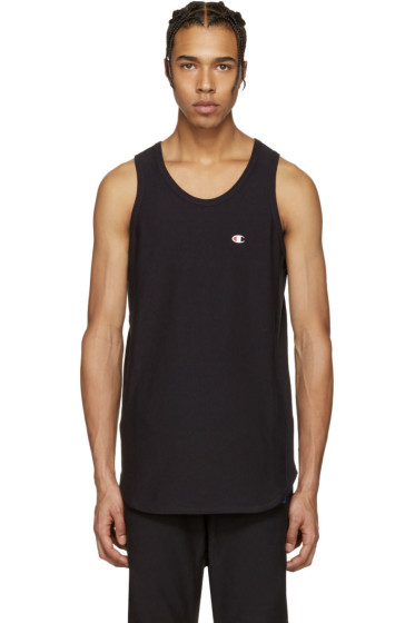 Champion x Beams - Black Logo Tank Top