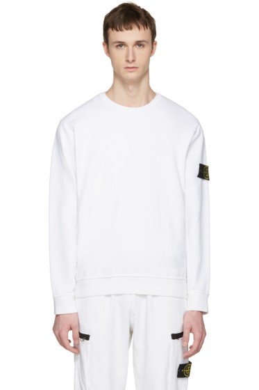 Stone Island - White Arm Patch Pullover