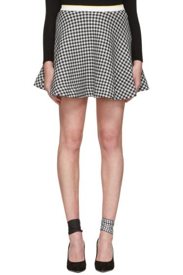 Miu Miu - Black & White Gingham Check Skirt