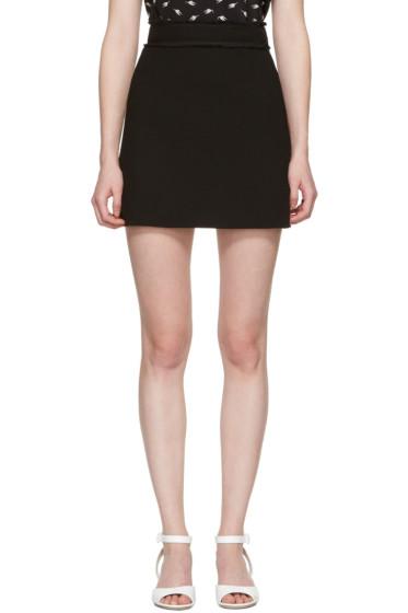 Miu Miu - Black Crepe Miniskirt