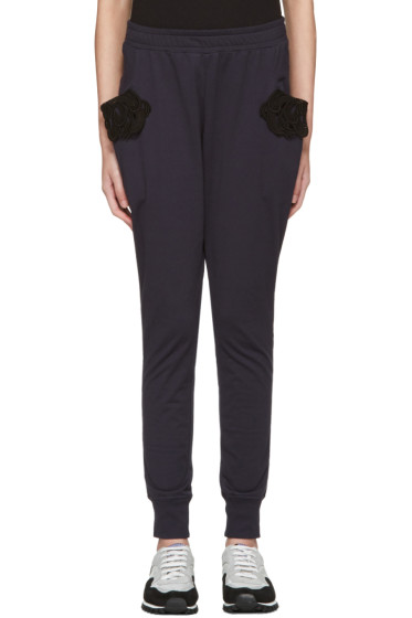 Harikae  - Navy Lace Lounge Pants