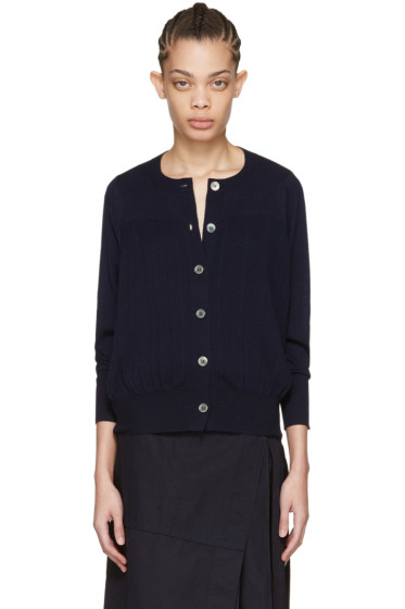 Harikae  - Navy Pleated Cardigan