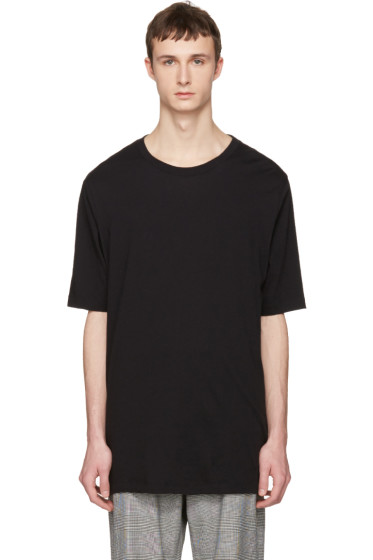 Faith Connexion - Black Oversized Distressed T-Shirt