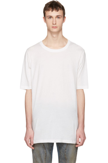 Faith Connexion - White Oversized Distressed T-Shirt