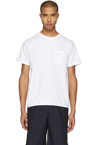 Noah - White Pocket Logo T-Shirt