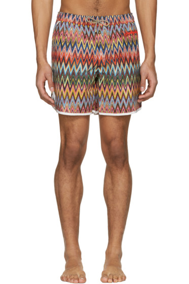 Missoni - Multicolor Zig Zag Swim Trunks