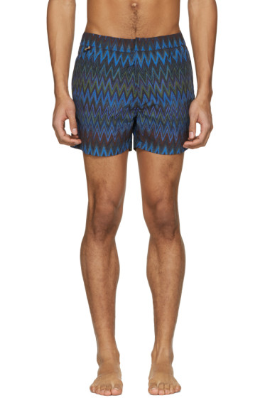 Missoni - Navy Zig Zag Swim Trunks
