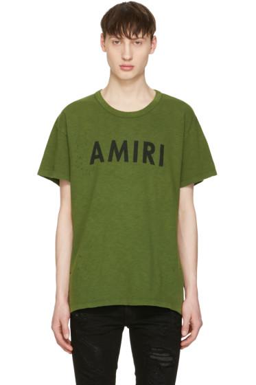 Amiri - Green Vintage Logo T-Shirt