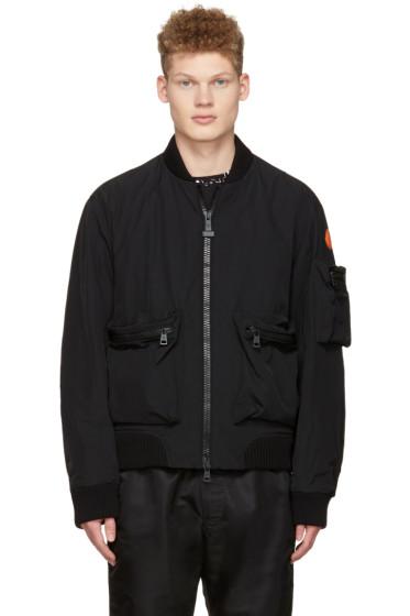 Moncler O - Black Down Bomber Jacket