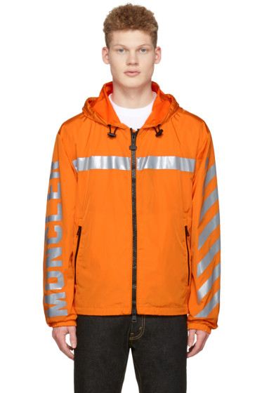 Moncler O - Orange Logo Windbreaker Jacket