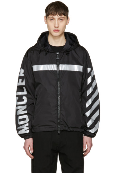 Moncler O - Black Logo Windbreaker
