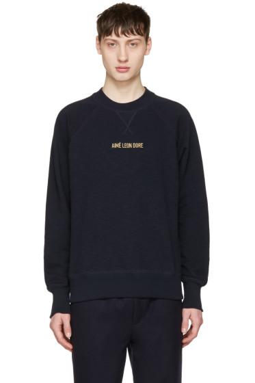 Aime Leon Dore - Navy Logo Pullover