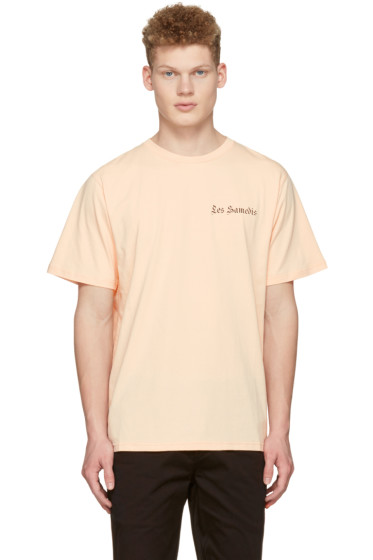 Saturdays NYC - Pink 'Les Samedis' T-Shirt