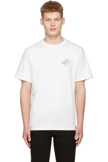 Saturdays NYC - Ivory 'NY NY' T-Shirt
