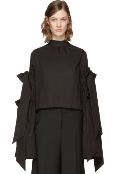 Shushu/Tong - Black Four Bows Blouse