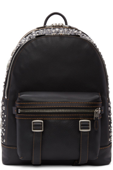 Coach 1941 - Black Studded Flag Backpack